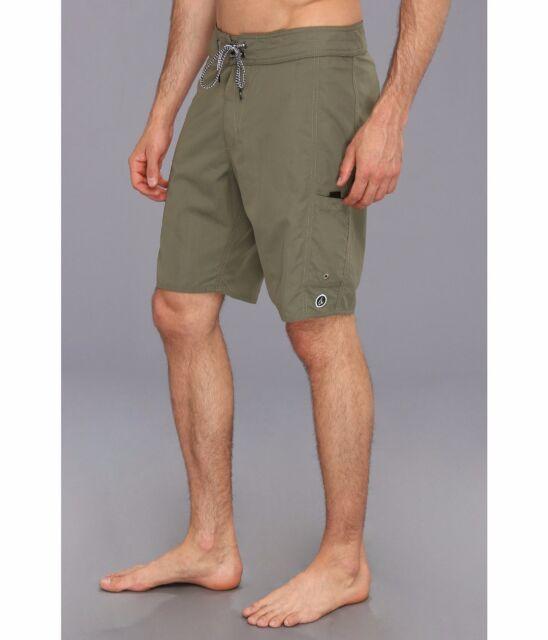 NEW VOLCOM board shorts BNB Bread n Butter Poison Green swim trunks sz 34 36 38