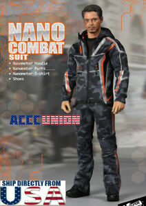 1/6 Nano Combat Jacket Suit Set F-080 pour Iron Man Infinity War Tony Stark Etats-unis