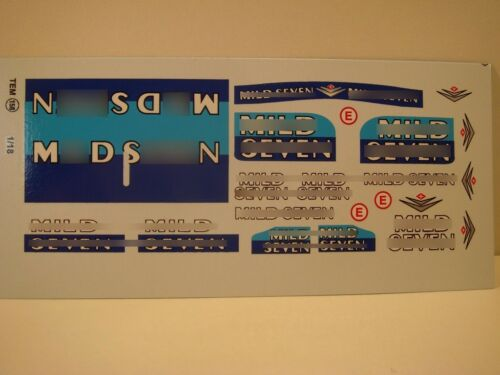 """DECALS 1//18 TABAC /"""" MILD SEVEN /"""" 1998 T158"""