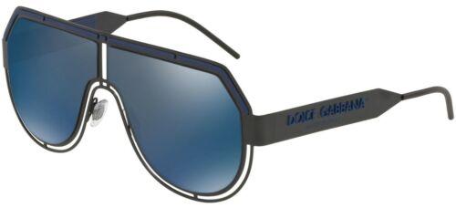 NEW D/&G Dolce /& Gabbana Matte Black Blue Mirror Sunglasses DG 2231 1106//96