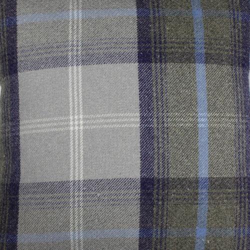 Balmoral Oxford Azul Lana Efecto Tartán Tapicería Cortina Diseñador Tela Gruesa