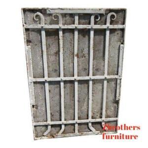 Antique-Victorian-Iron-Gate-Window-Garden-Fence-Architectural-Salvage-Door-642