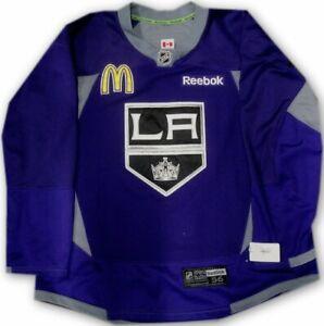 Los-Angeles-Kings-Game-Used-Practice-Jersey-Purple-McDonalds-Patch-Reebok-Sze-56