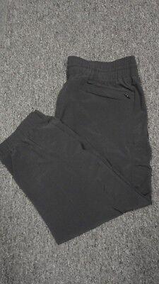 Women's Clothing Dynamic Athleta Black Elastic Waist Straight Leg Solid Athletic Crop Pant Sz 6 Ff6785 To Invigorate Health Effectively