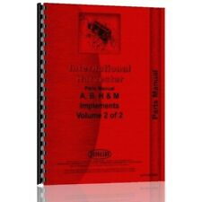 International Farmall A B H M Tractor Implement Amp Attachments Parts Manual