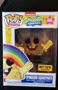 Funko Pop Animation #558 Spongebob Squarepants Diamond Hot Topic Exclusive