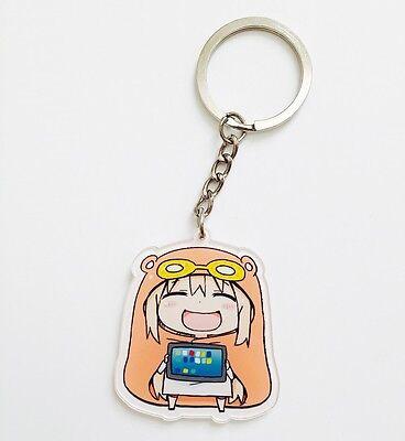 Himouto Umaru-Chan Acrylic Strap Keychain Charm~SD Umaru #3 Playing Tablet HU001
