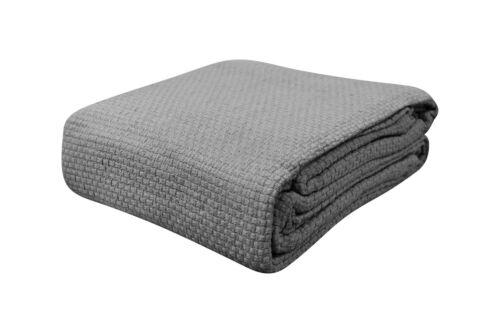 NEW Killarney Linen 100/% Cotton Summer Pebble Weave Blanket All Sizes