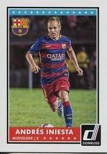 Donruss Soccer 2015 Base Card #72 Andres Iniesta