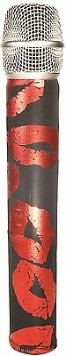Radient New Genuine Micfx Microphone Hologram Foil Sleeve Cover Skin - Red Lips On Black