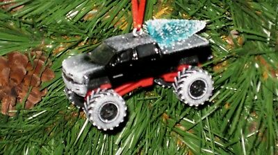 Jada 2014 Chevy Silverado Black Custom Christmas Ornament ...