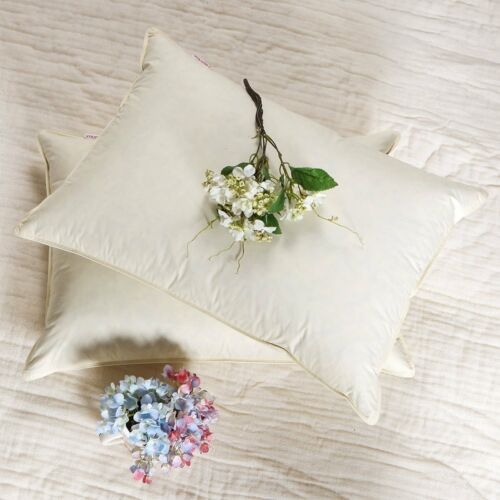 SNOWMAN Down Pillow Hypoallergenic 100/%Cotton 600TC Ivory King Size,Set of 2
