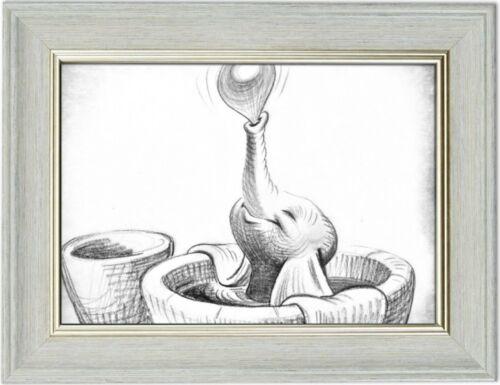 Dumbo Vintage Art Drawings A4 Prints Frameless