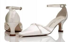 Image Is Loading Ivory Satin Bridal Bridesmaid Wedding Shoes Size 4