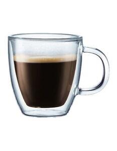 NEW Bodum Bistro Espresso Cup  Set of 2 White