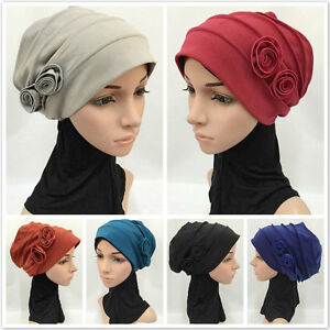 Ramadan-Flower-Muslim-Inner-Caps-Hijab-Arab-Shawls-Headwear-Islamic-Hats-Scarf