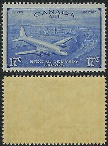 Canada-Scott-CE4-17c-Air-Mail-Special-Delivery-Correct-Accent-VF-NH