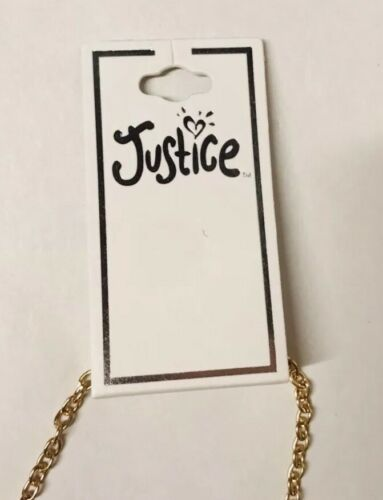 Justice Hologram Heart Reindeer Necklace Jewelry Girls Christmas Holiday Gift