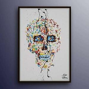 The-Day-of-Dead-40-034-original-oil-painting-on-canvas-skull-painting-handmade