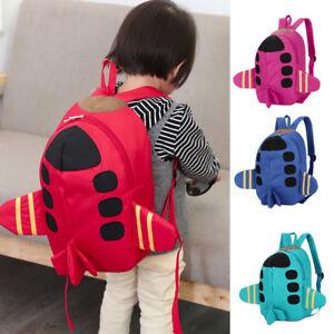 Baby Boys Girls Kids School Bags Plane Pattern Animals Backpack ... ce4791e55f2f0