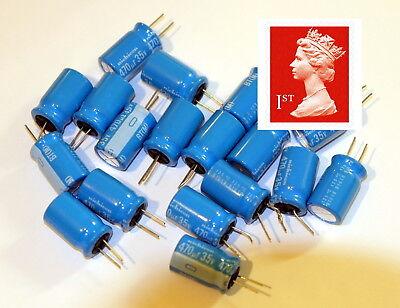 M Nichicon 470uF 105°C Radial Electrolytic Capacitor 470µF 10pcs 35V HE