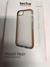 NEW Original Tech21 Silicone Impact mesh Case for iPhone 5c Clear orange
