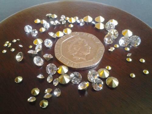 diverses tailles 100 Clair Cristal Strass or point arrière Simulé Diamants