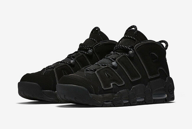 Nike Air More Uptempo Triple Black Reflective Incognito Pippen 414962-004 7.5-13