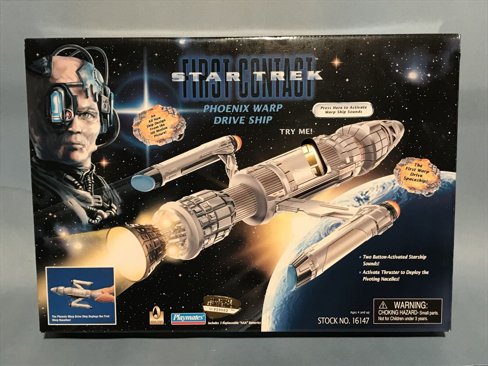 PLAYMATES STAR TREK FIRST CONTACT PHOENIX WARP DRIVE SHIP  NM