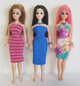 DAWN-DOLL-CLOTHES-9-Piece-Lot-Dresses-and-Jewelry-Fashions-NO-DOLL-dolls4emma-G