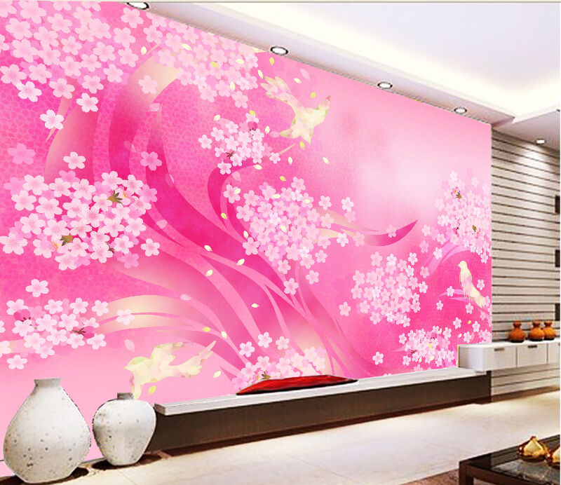 3D Weiß flowers 236 Wall Paper Print Wall Decal Deco Indoor Wall Murals