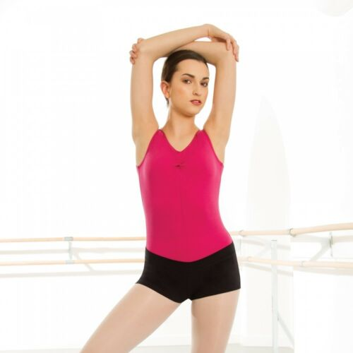 1st Position Cotton Elastane Black Dance Warm Up Shorts