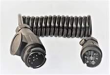 Anhänger Verlängerung Kabel 7 + 13polig Verbindungsspirale ISO 1724 / 11446