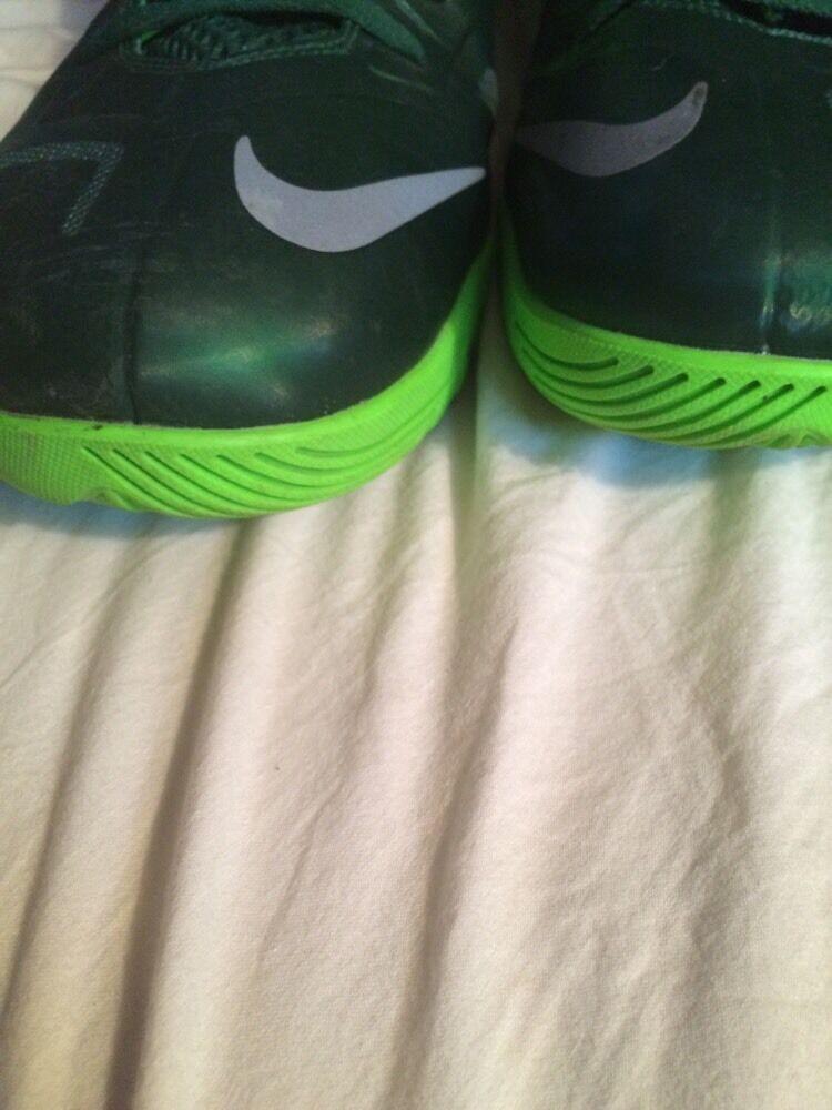 Nike Zoom SOLDIER VII 7 LEBRON JAMES JAMES JAMES Green White Men's SZ 18 EUC e950c3