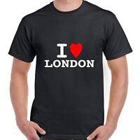 I heart love London T shirt BNWT choice colours & sizes retro FUNNY fashion glam
