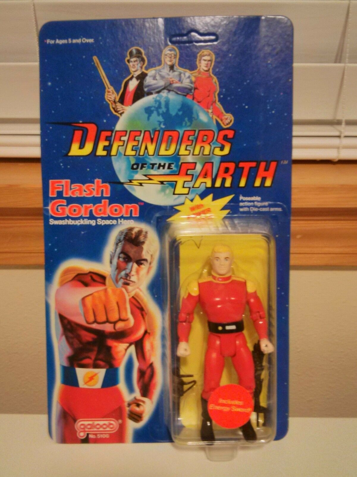 1985 Vintage Galoob DEFENDERS OF THE EARTH (Flash Gordon) Action Figure, NEW