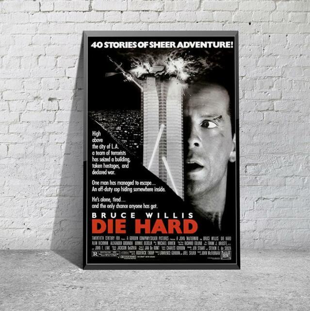 Die Hard Classic 80's Bruce Willis Movie Film Poster Print Picture A3 A4