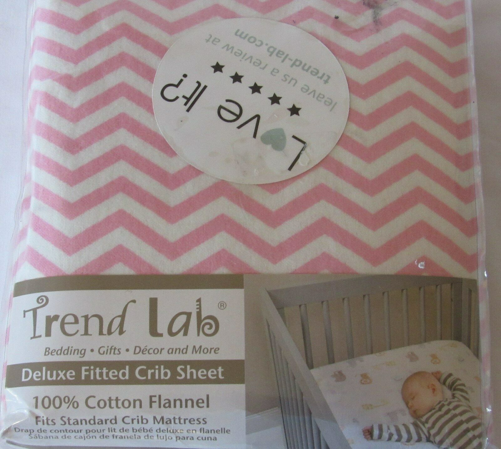 Trend Lab 100026 Pink Chevron Deluxe Flannel Fitted Crib Sheet For Sale Online Ebay