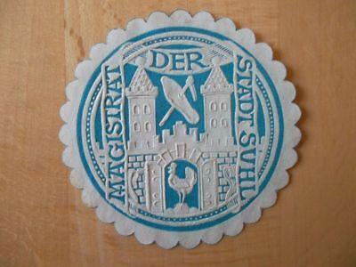 14998 Siegelmarke Symbol Der Marke Magistrat Der Stadt Suhl In Den Spezifikationen VervollstäNdigen