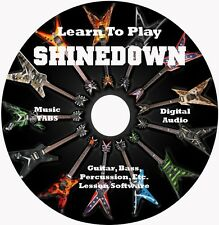 Shinedown Guitar TABS Lesson CD 65 Songs + Backing Tracks + Bonus