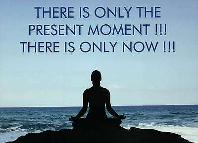 Present Moment Now Meditation Buddhism Yoga Spititual Fridge Refrigerator Magnet