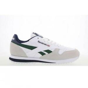 0ad8583ffd2 Image is loading Mens-REEBOK-CL-LEATHER-RIPPLE-LOW-BP-White-