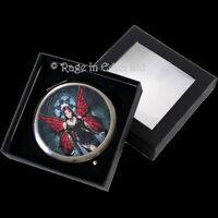 *ARACNAFARIA* Anne Stokes Goth Fantasy Fairy Art Compact Mirror (7cm)