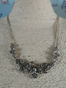 Qvc-Sterling-Silver-Art-Deco-Look-Maricasite-Flower-Necklace
