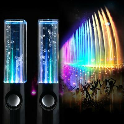 BL LED Water Dancing Speaker Light Show Music Fountain for PC Valentine's Day
