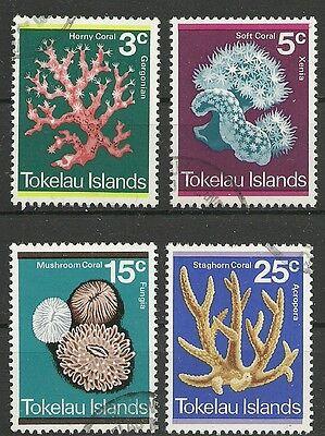 Australien, Ozean. & Antarktis Motiviert Tokelau/ Korallen Minr 30/33 O Briefmarken