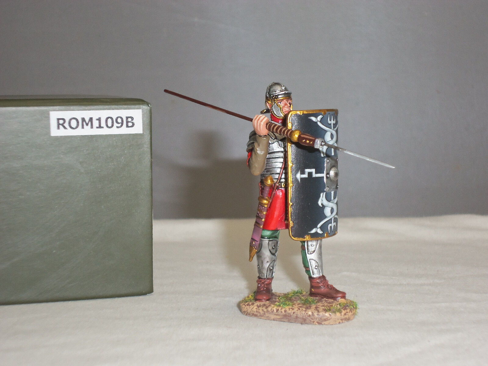 Thomas Gunn ROM109B Romano Legionario, prepara a lanciare pilum giocattolo Soldato