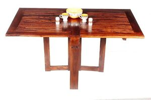 Details about Dining Table For Small Spaces Apartment Size Furniture  Kitchen Drop Leaf Folding
