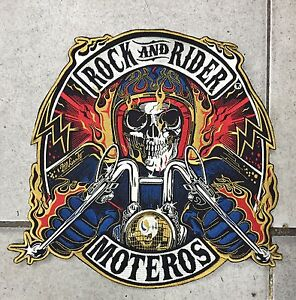 Parche-Motero-Rock-And-Rider-XXL-Calavera-Patch-Skull-Harley-Indian-Motor