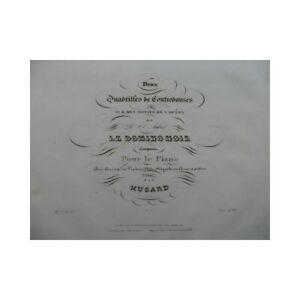 MUSARD-Le-Domino-Noir-Piano-ca1840-partition-sheet-music-score